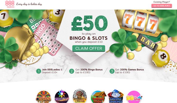 888Ladies Bingo Website - Mobile