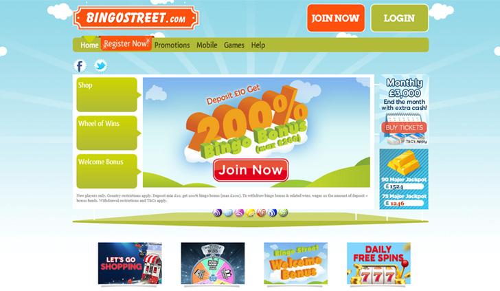BingoStreet Website - Mobile
