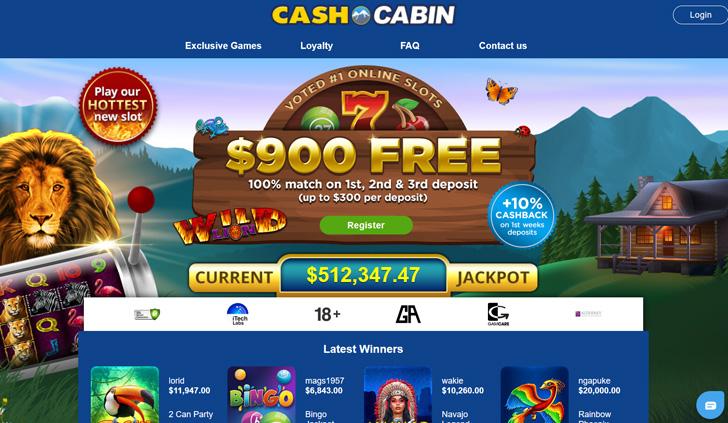 Cash Cabin Website - Mobile