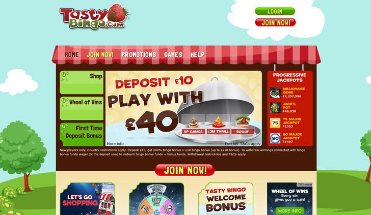 Tasty Bingo Website - Mobile