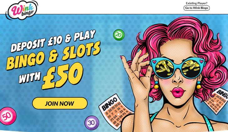 Wink Bingo Website - Mobile